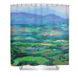 Mountains And Valleys- Summertime Along The Blue Ridge Parkway Shower Curtain