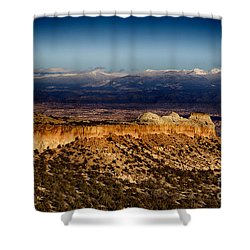 Mountains At Senator Clinton P. Anderson Scenic Route Overlook  Shower Curtain