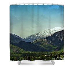 Mountains Beyond Skagway Shower Curtain