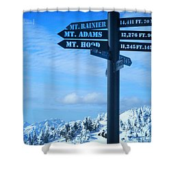 Mountains Everywhere Shower Curtain