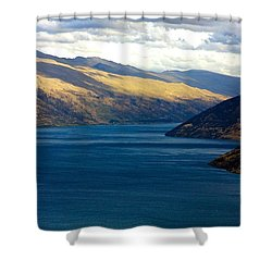 Shower Curtain featuring the photograph Mountains Meet Lake #2 by Stuart Litoff