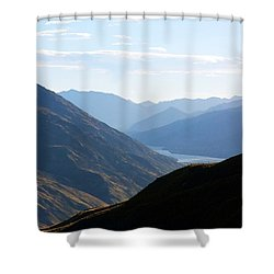 Shower Curtain featuring the photograph Mountains Meet Lake #3 by Stuart Litoff