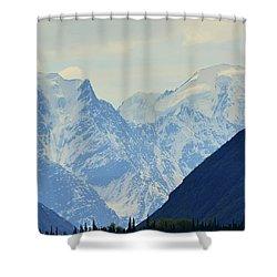Mountains Near Matanuska Glacier Shower Curtain by Andrew Matwijec