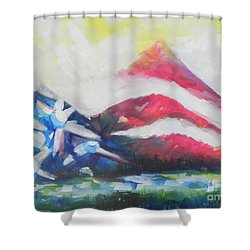 Mountains Of Freedom Two Shower Curtain