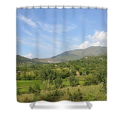Shower Curtain featuring the photograph Mountains Sky And Clouds Swat Valley Pakistan by Imran Ahmed