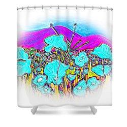 Mountains View Shower Curtain by Oksana Semenchenko