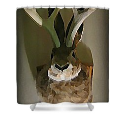Mounted Jackalope From Vegas Shower Curtain by John Malone
