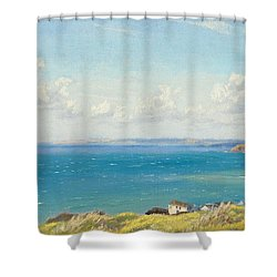 Mount's Bay C1899 Shower Curtain by Arthur Hughes
