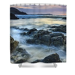 Shower Curtain featuring the photograph Mourillar Beach Galicia Spain by Pablo Avanzini