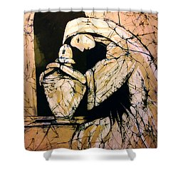 Mourning Angel Shower Curtain