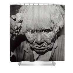 Mourning Circa 1924 Shower Curtain by Aged Pixel