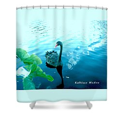 Mourning Swan Song Shower Curtain