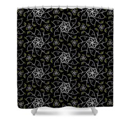Shower Curtain featuring the digital art Mourning Weave by Elizabeth McTaggart