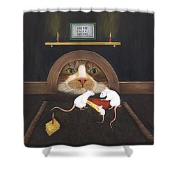 Mouse House Shower Curtain