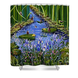 Mouse Pad Shower Curtain by Jennifer Lake