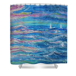 Movin' In Shower Curtain by Diane Pape