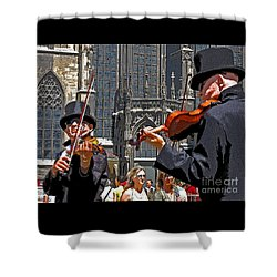 Mozart In Masquerade Shower Curtain by Ann Horn