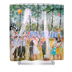 Mr. And Mrs. Matt Parker Shower Curtain