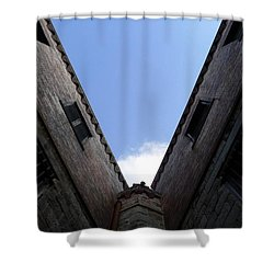 Mr Blue Sky Shower Curtain by Richard Reeve
