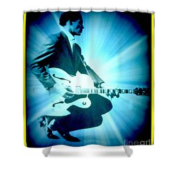 Mr Chuck Berry Blueberry Hill Style Edited Shower Curtain by Kelly Awad