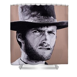 Mr. Eastwood Shower Curtain by Ellen Patton