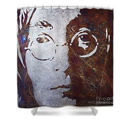 Mr Lennon Shower Curtain