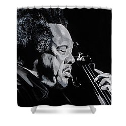 Mr Mingus Shower Curtain by Brian Broadway