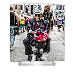 Mr. Mobile Shower Curtain
