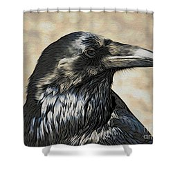 Mr. Raven Shower Curtain