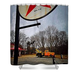 Mr. Towed's Magical Ride Shower Curtain