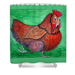Mrs Chicken Shower Curtain