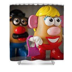 Mrs. Potato Head Shower Curtain