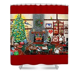 Ms. Elizabeth's Holiday Home Shower Curtain