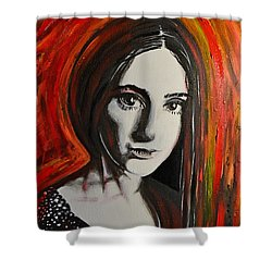 Portrait In Black #x Shower Curtain