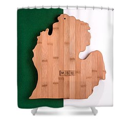 Msu Inspireme Shower Curtain by  Onyonet  Photo Studios
