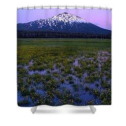 Mt. Bachelor Twilight Shower Curtain
