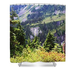 Mt. Baker Washington Shower Curtain by Tom Janca