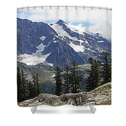 Mt Baker Washington View Shower Curtain by Tom Janca