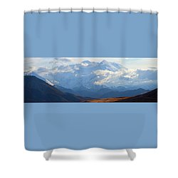 Mt. Denali Shower Curtain by Ann Lauwers