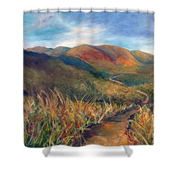 Mt. Diablo Hills Shower Curtain