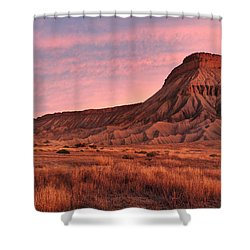 Shower Curtain featuring the photograph Mt Garfield Sunrise by Ronda Kimbrow