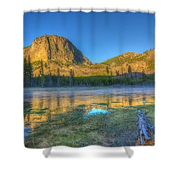 Mt. Hayes Alpine Glow Yellowstone National Park Shower Curtain