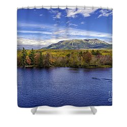 Mt Katahdin Hdr Shower Curtain