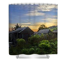 Mt Leconte Before Dawn Shower Curtain by Debra and Dave Vanderlaan