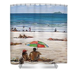 Mt Maunganui Beach 090209 Shower Curtain by Sylvia Kula