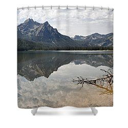 Mt. Mcgowan Reflected In Stanley Lake Shower Curtain