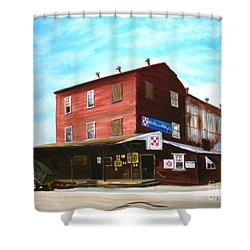 Shower Curtain featuring the painting Mt. Pleasant Milling Company by Stacy C Bottoms