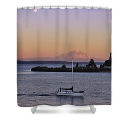 Mt. Rainier Afterglow Shower Curtain
