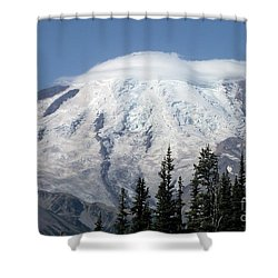 Shower Curtain featuring the photograph Mt. Rainier In August 2 by Chalet Roome-Rigdon