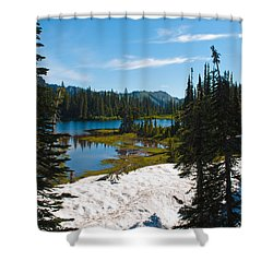 Shower Curtain featuring the photograph Mt. Rainier Wilderness by Tikvah's Hope